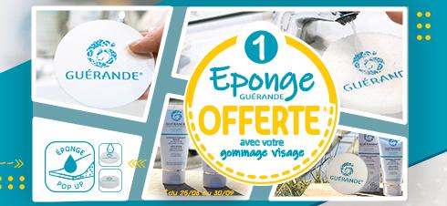 1 Eponge Guérande offerte* pour toute achat d'un gommage fondant visage.